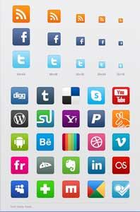 Raccolta gratuite di icone social netowork